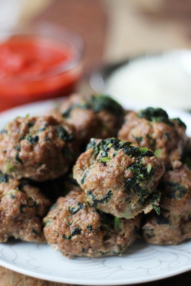 Italian kale meatballs