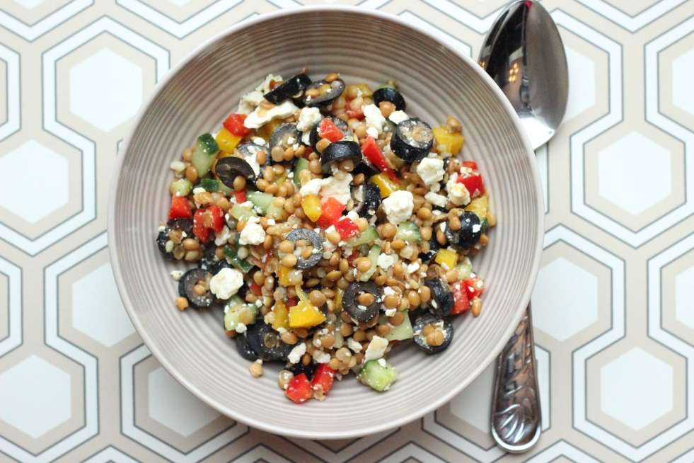 Lemony Lentil and Feta Salad