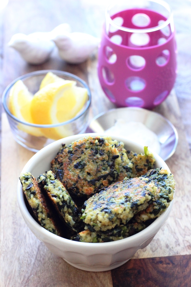 Spinach and Feta Quinoa Cakes