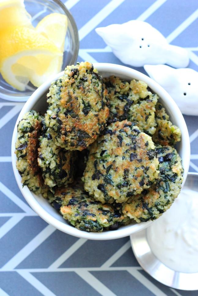 Spinach and Feta Quinoa Cakes